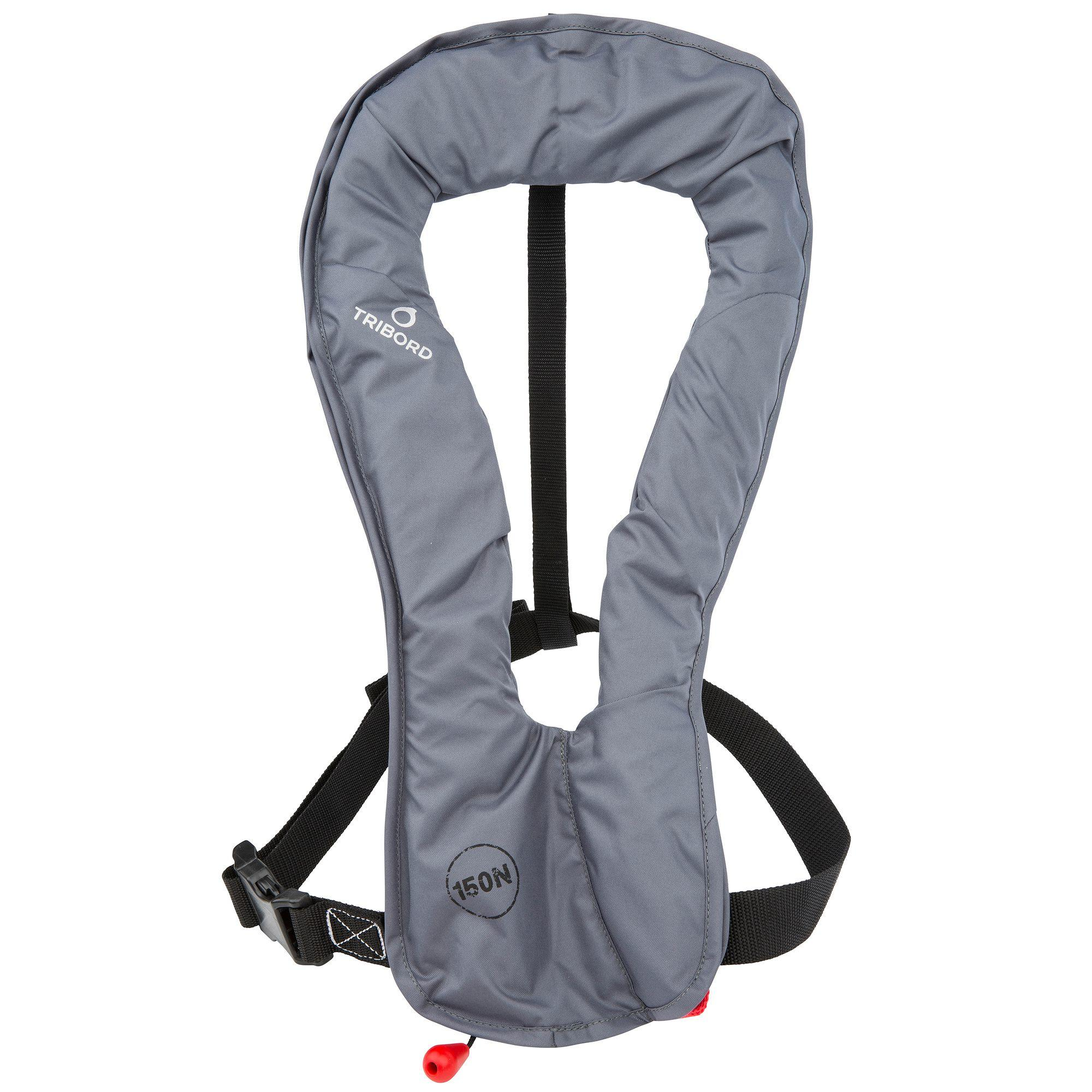 LJ 150N AIR Adult Inflatable Life Jacket - Grey