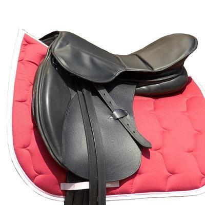 Siège de selle équitation en gel noir - taille cheval