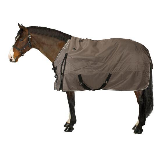 Buitendeken Allweather 300 1.000 D kastanjebruin - pony en paard - 836469