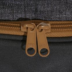 Trolleytas ruitersportmateriaal gemêleerd grijs/camel 80 liter - 836576