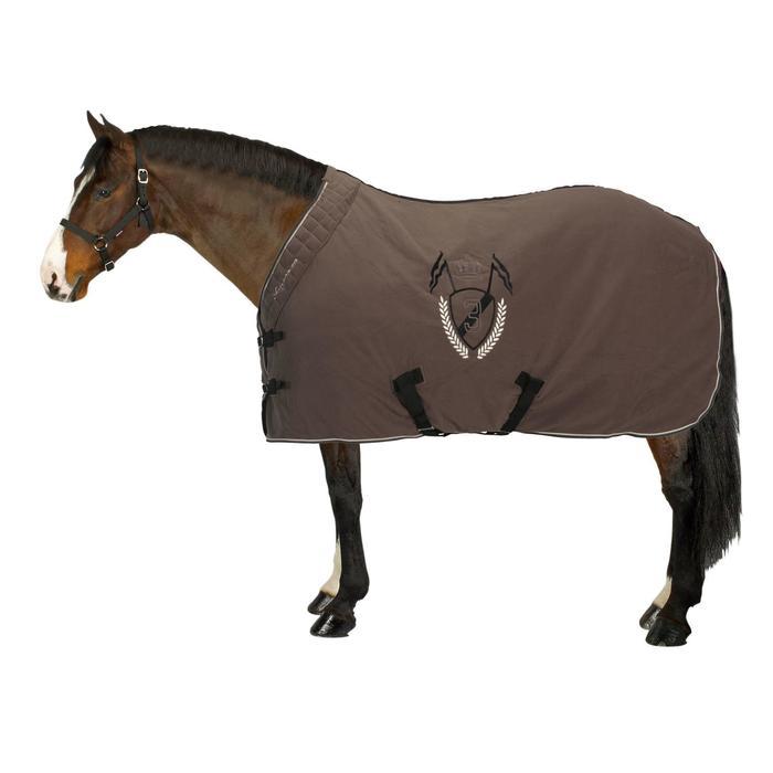 Chemise d'écurie équitation POLAR 500 marron -  poney et cheval - 837014