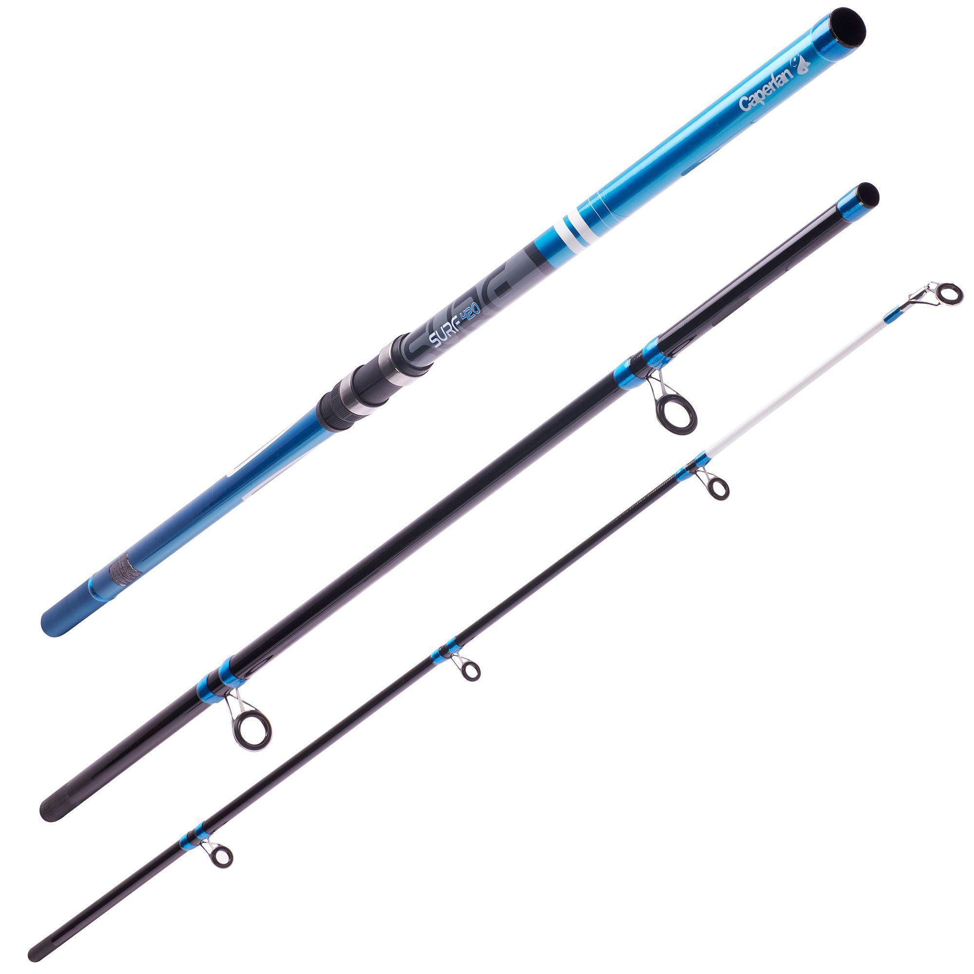 Surf 420 3 sea fishing rod caperlan for Sea fishing rods