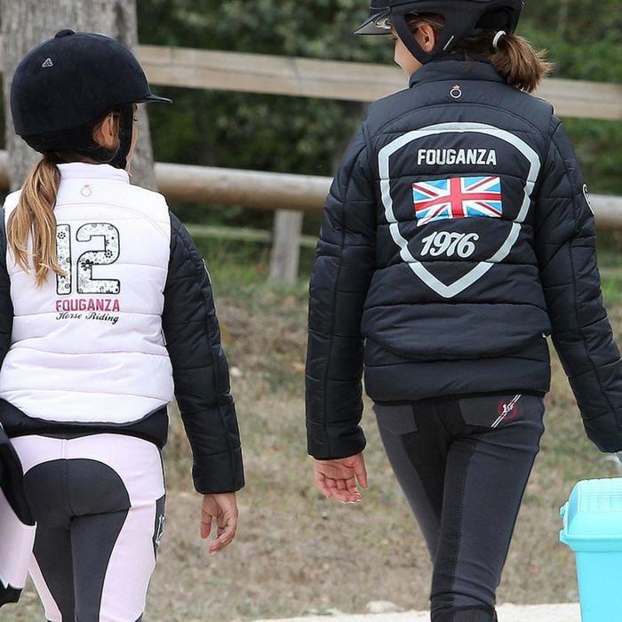 Veste équitation enfant SAFY noir - 837079