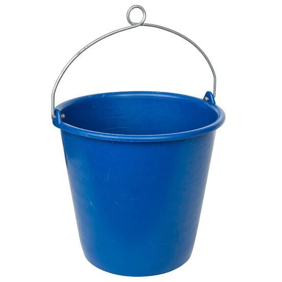 Stijve emmer van 10 liter met oog voor boot blauw - 837942