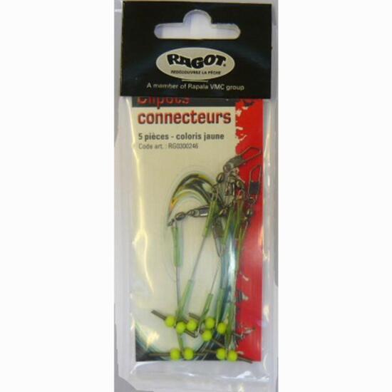 LIJNMONTAGE ZEEVISSEN CONNECTORCLIPS X5 - 838489
