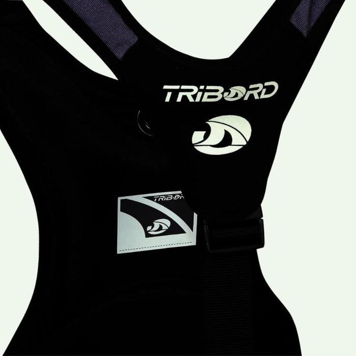 Arnés de trapecio vela ligera/catamarán adulto negro/gris