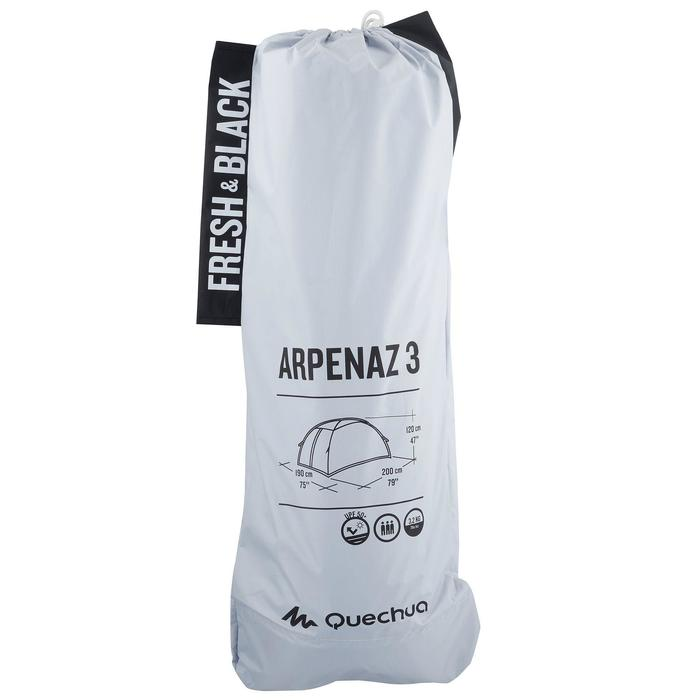 Tente de camping ARPENAZ 3 FRESH&BLACK | 3 personnes blanche - 838665