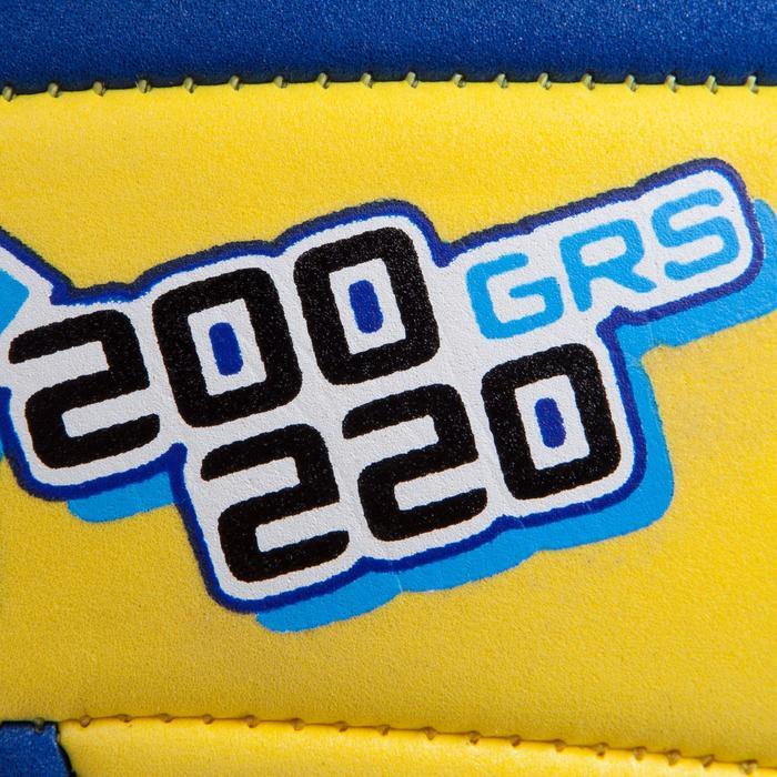 Ballon de volley-ball Wizzy 200-220g jaune et bleu pour les 6-9 ans