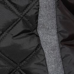Bodywarmer ruitersport dames Performer zwart/grijs visgraatmotief