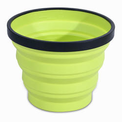 Opvouwbare beker voor trekking X-cup 0,25 liter groen
