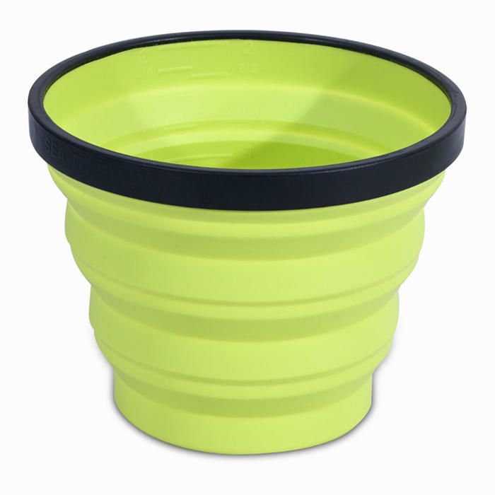 Opvouwbare drinkbeker voor trekking X-CUP 0,25 liter groen