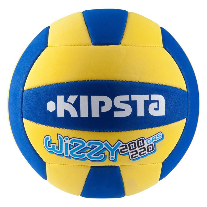 Ballon de volley-ball Wizzy 260-280g blanc et bleu à partir de 15 ans - 839208