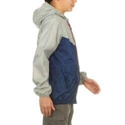 Kinder regenjas voor wandelen MH150 marineblauw en grijs 7 tot 15 jaar