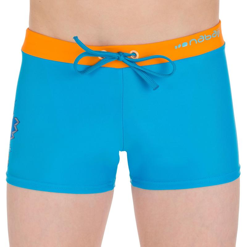 B-Active Pep Boy's Boxer Swim Shorts - Buzz Blue Orange