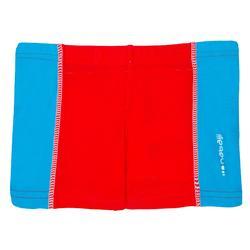 Zwemboxer jongens rood en blauw met inzetstuk