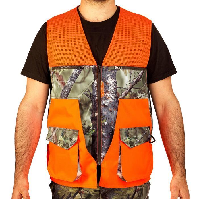 Vest Renfort 500 voor de jacht fluo camo - 839565