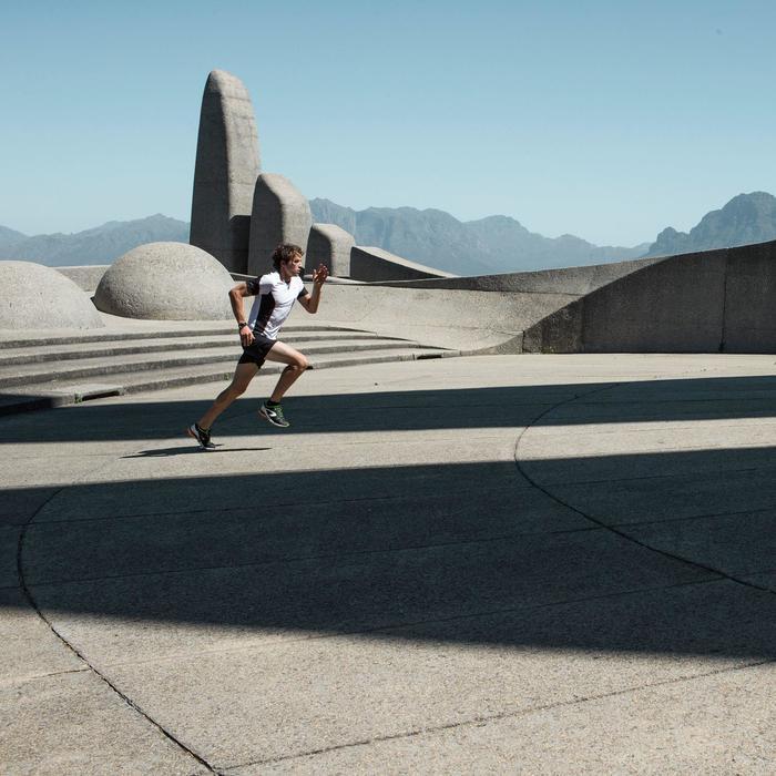 Montre chronomètre de course à pied homme W900 noire reverse - 839896