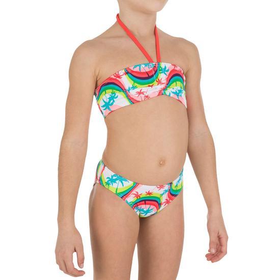 Meisjesbikini bandeaumodel AG Palm meerkleurig - 839903
