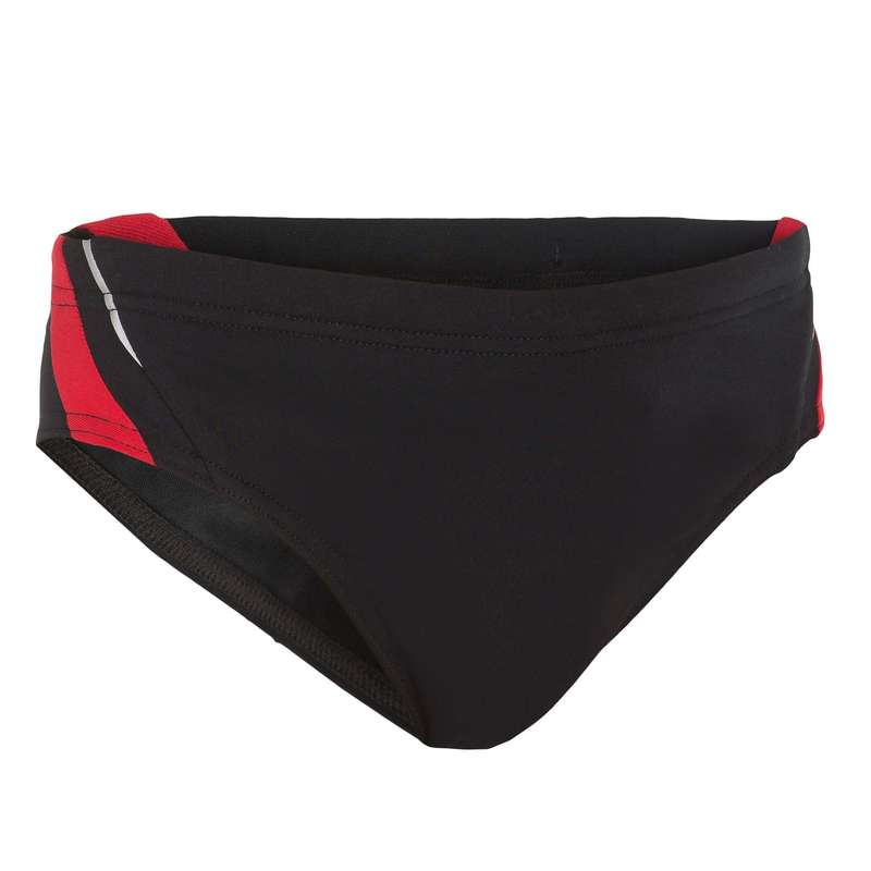 BOY'S SWIMSUITS Swimming - YOKE BOY'S BRIEFS - BLACK RED NABAIJI - Swimwear