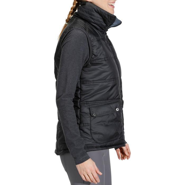 Gilet doudoune sans manche équitation femme PADDOCK noir - 841225
