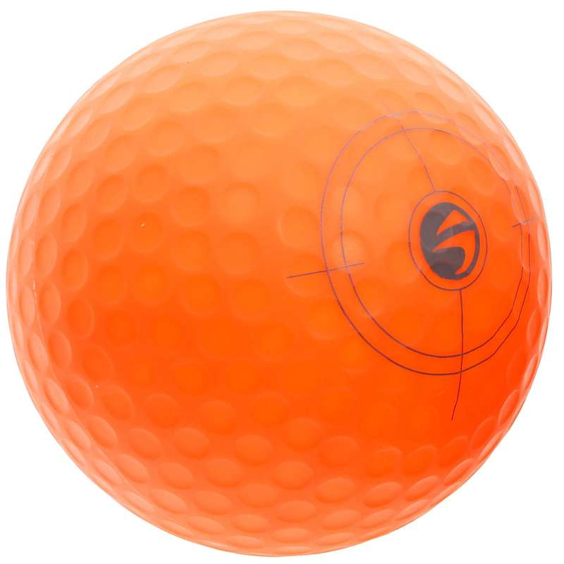 Junior Golf Equipment Golf - Golfball 500 aufblasbar orange INESIS - Zubehör