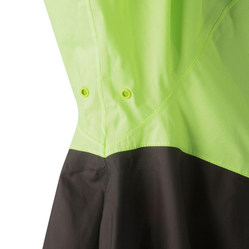 Cycling Rain Poncho 900 - Neon Yellow/Black
