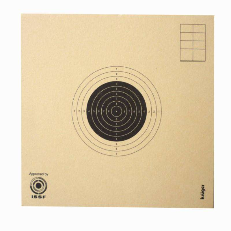AIR RIFLE LEAD SHOT/TARGETS/SCOPES Shooting and Hunting - 10cm X 10CM air rifle target KRUGER DRUCK PLUS VE - Shooting and Hunting