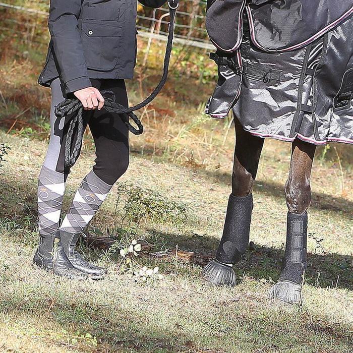 2 guêtres intégrales équitation cheval NEOPRENE noir - 842420