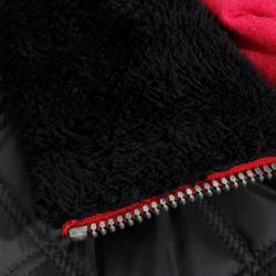Chaleco acolchado equitación mujer PERFORMER Negro y gris espiguillas