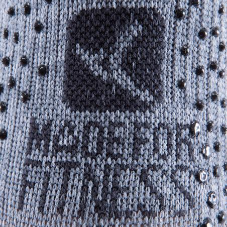 Chaussettes antidérapantes pilates et gym douce gris