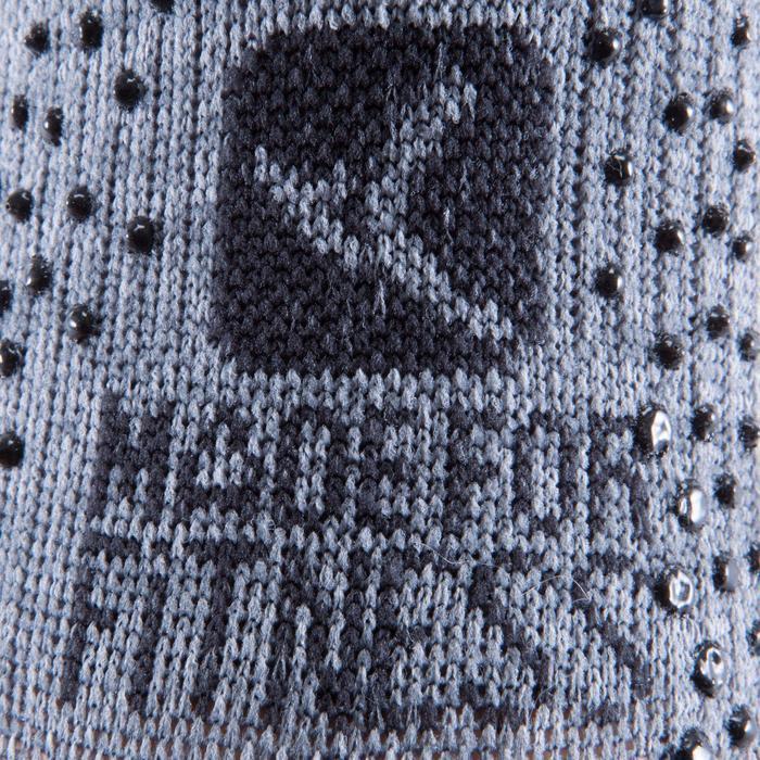 Calcetines Antideslizantes Cortos Gimnasia Pilates Yoga Gris