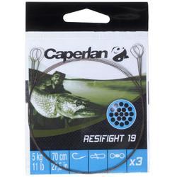 Avançon pêche carnassier RESIFIGHT 19 2 BOUCLES 5KG