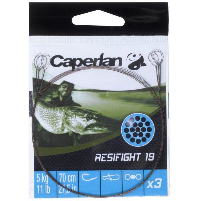 Stalen onderlijn roofvishengelen Resifight 19 2 lussen 5 kg