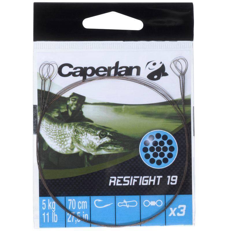 HÁČKY S MONTÁŽÍ, NÁVAZCE NA LOV DRAVÝCH RYB Rybolov - RESIFIGHT 19 DVOUSMYČKOVÝ 5 KG CAPERLAN - Rybářské vybavení
