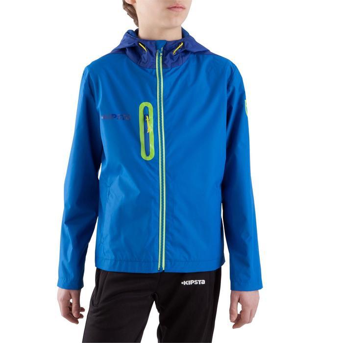 Veste imperméable de football enfant T500 bleu - 843427