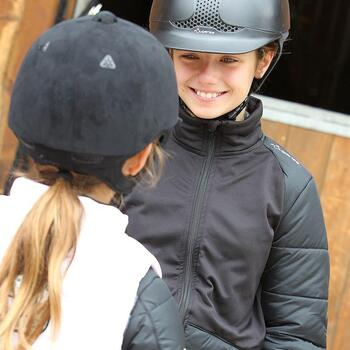 Veste équitation enfant SAFY noir - 843473