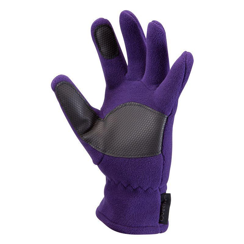 Forclaz 100 children's hiking gloves mauve