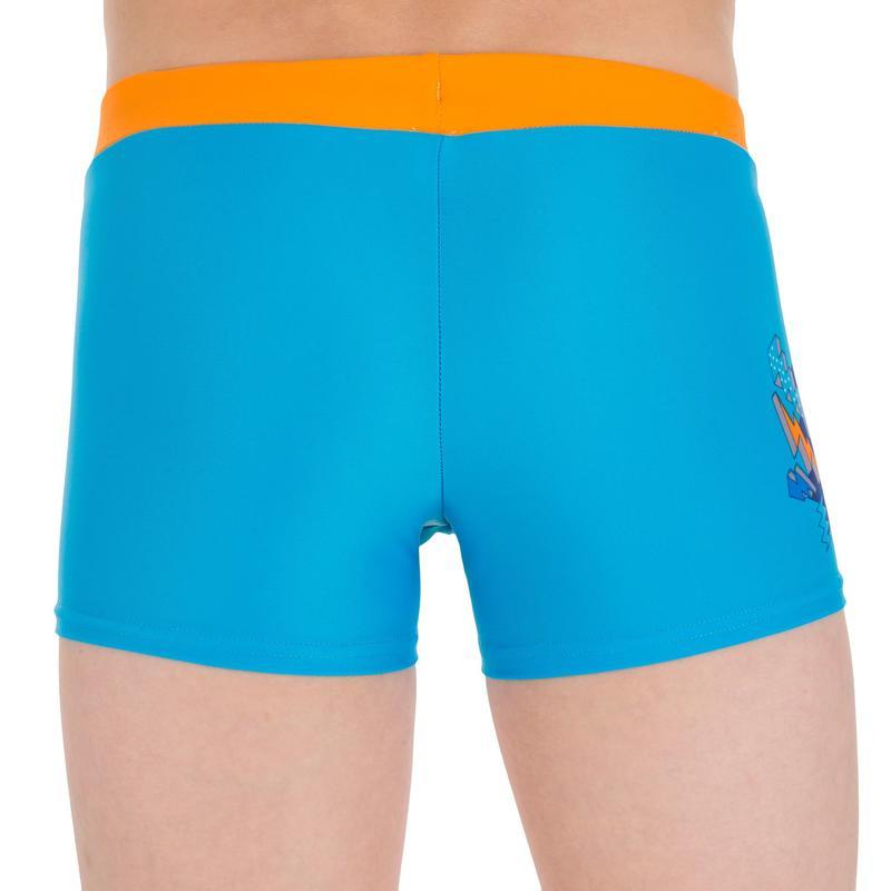 B-Active Pep Boy's Boxer Swim Shorts - Buzz Blue Orange