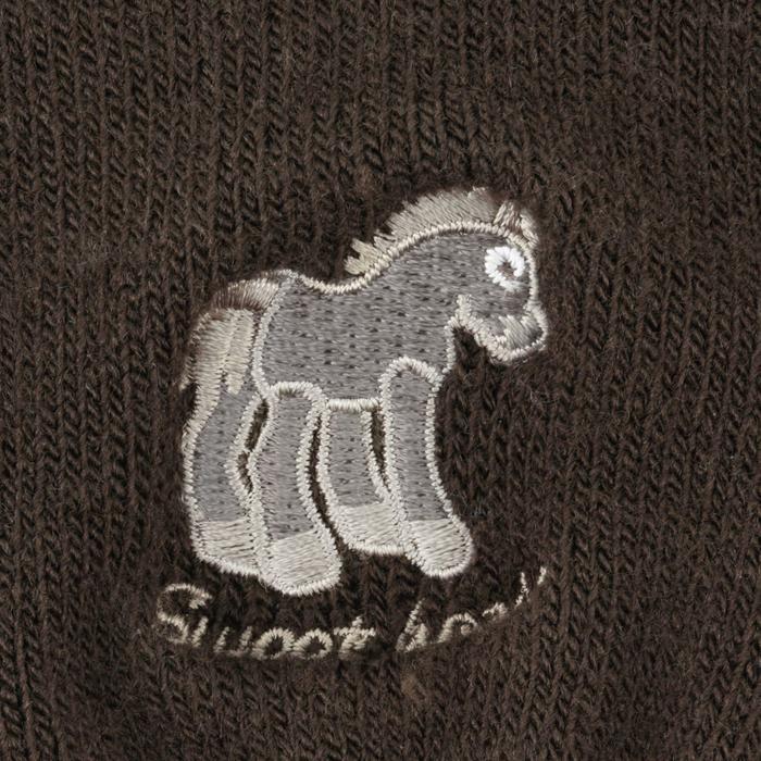 Guantes de equitación para niños PUNTO marrón beige