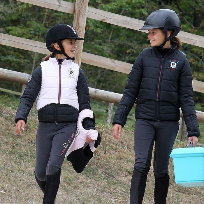 Veste équitation enfant SAFY noir - 844954