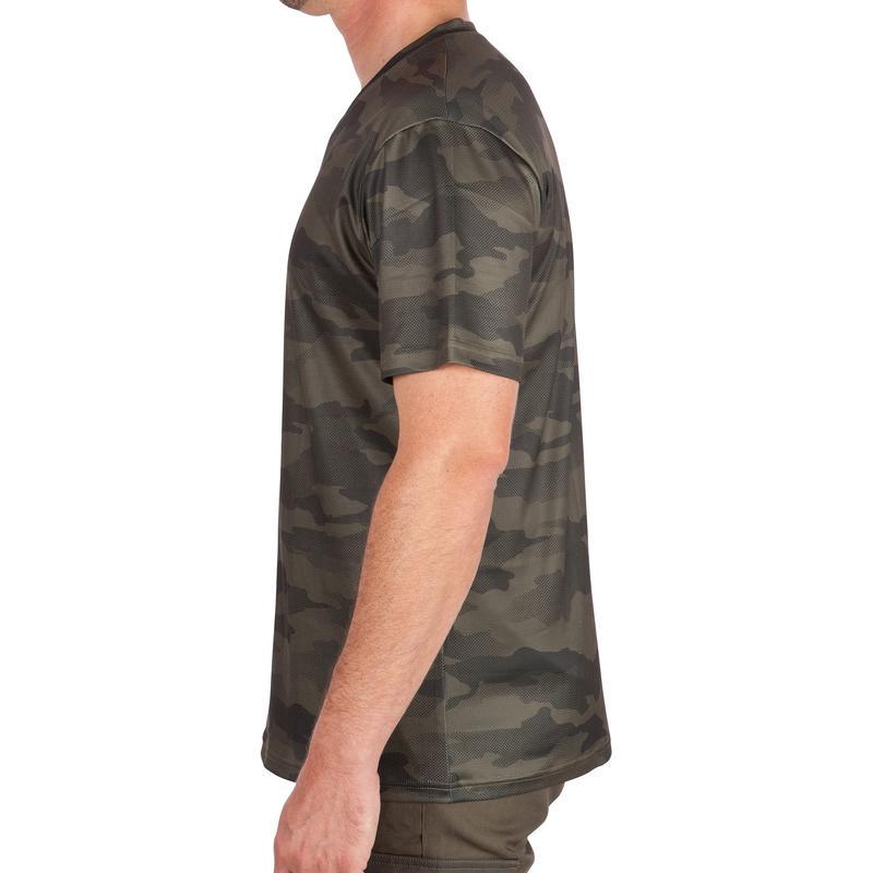 เสื้อยืดที่น้ำหนักเบาและระบายอากาศได้ดีรุ่น 100 (ลายพราง)