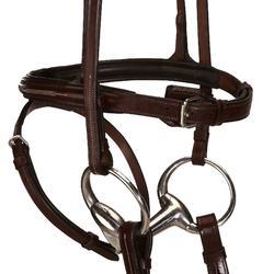 Hoofdstel + teugels Tinckle ruitersport bruin - pony en paard - 845228