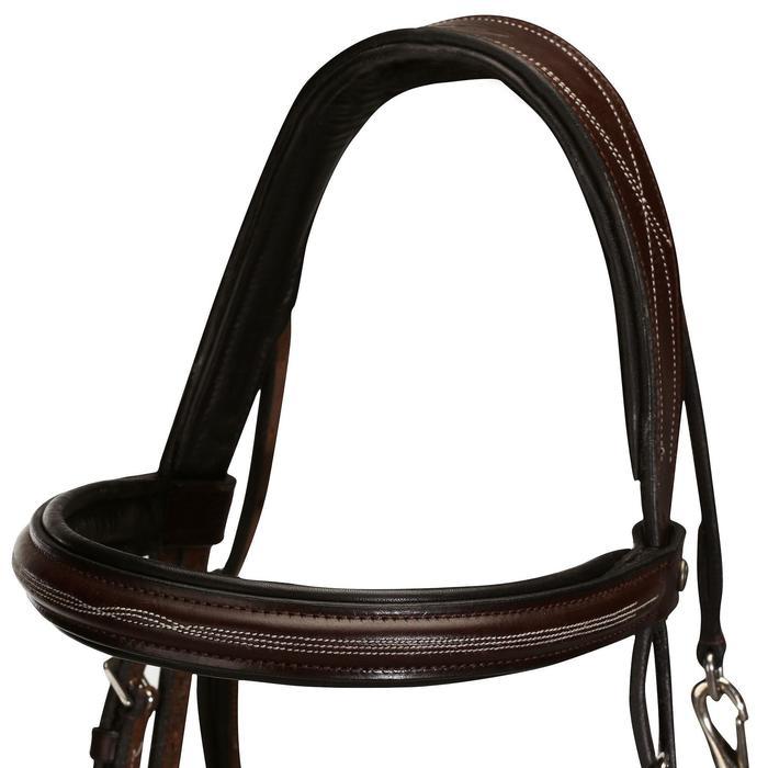 Filet + rênes équitation cheval et poney TINCKLE marron - 845380