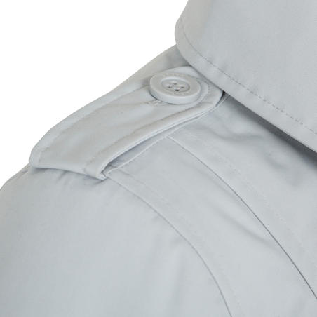 Women's warm, waterproof and breathable reefer sailing jacket - Light grey