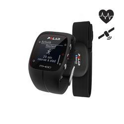 Gps-horloge M400 HRM met hartslagband zwart