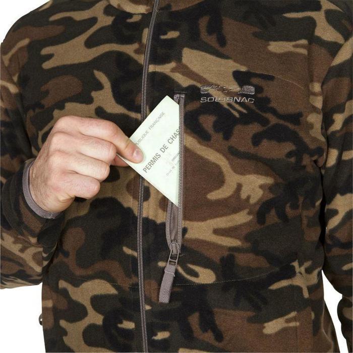 Jagdfleecejacke 300 camouflage grün