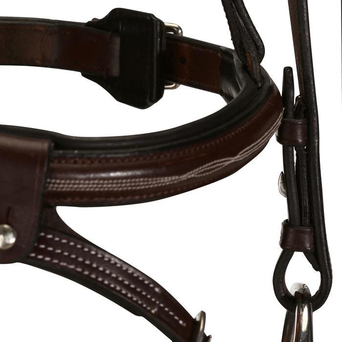 Filet + rênes équitation cheval et poney TINCKLE marron - 845687