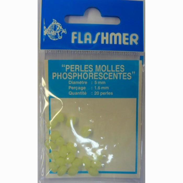 Perles molles phospho 5mm x20 pêche en mer