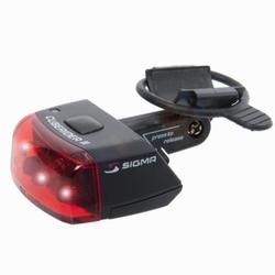 Led fietsverlichting Cuberider II achteraan zwart op batterijen