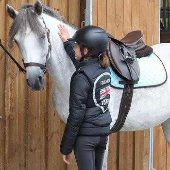 Veste équitation enfant SAFY noir - 846218